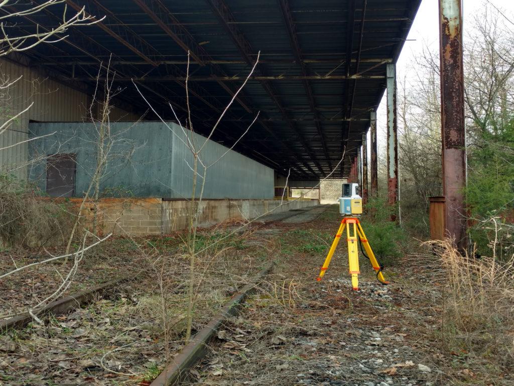 Picture taken underneath a bridge