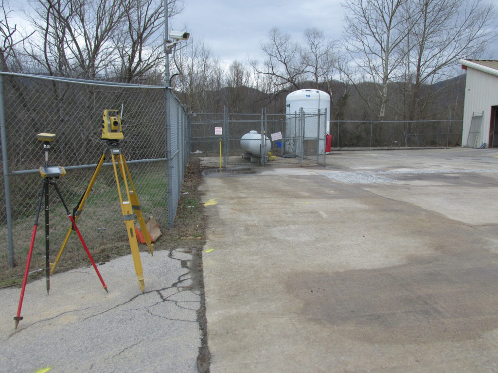 Picture of a fenced in concrete pad