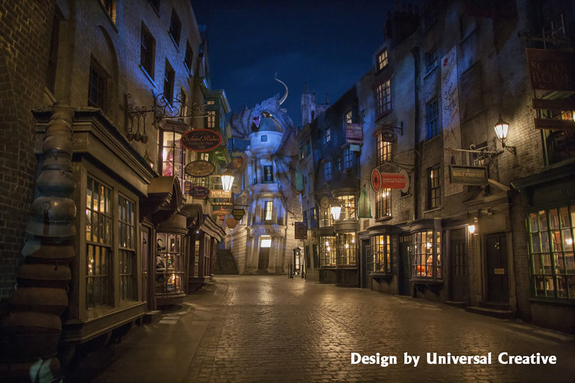 Picture of Diagon Alley at Universal Studios