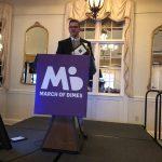 Eddie Jett giving honorary speech after receiving award