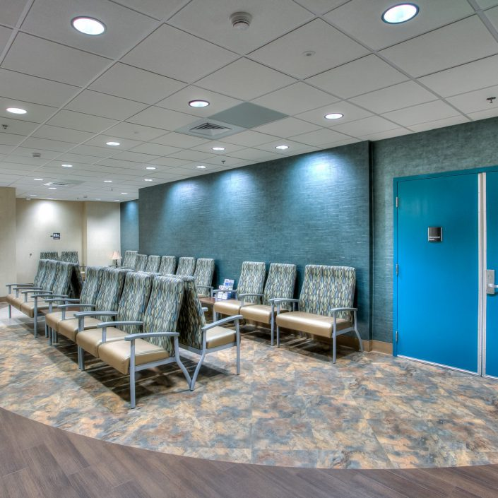 Picture of a waiting room at UTMC Nuclear Medicine Center