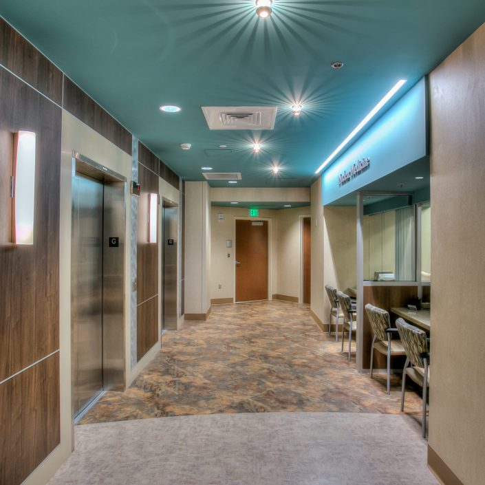 Picture of a hallway at UTMC Nuclear Medicine Center