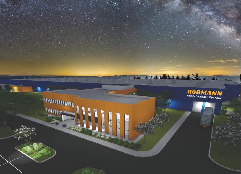 Horman Door Manufacturing night rendering